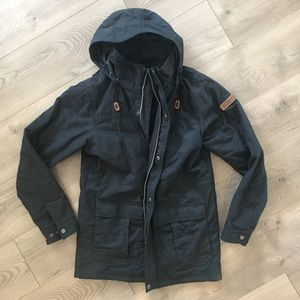 Columbia long black winter jacket. Only worn once